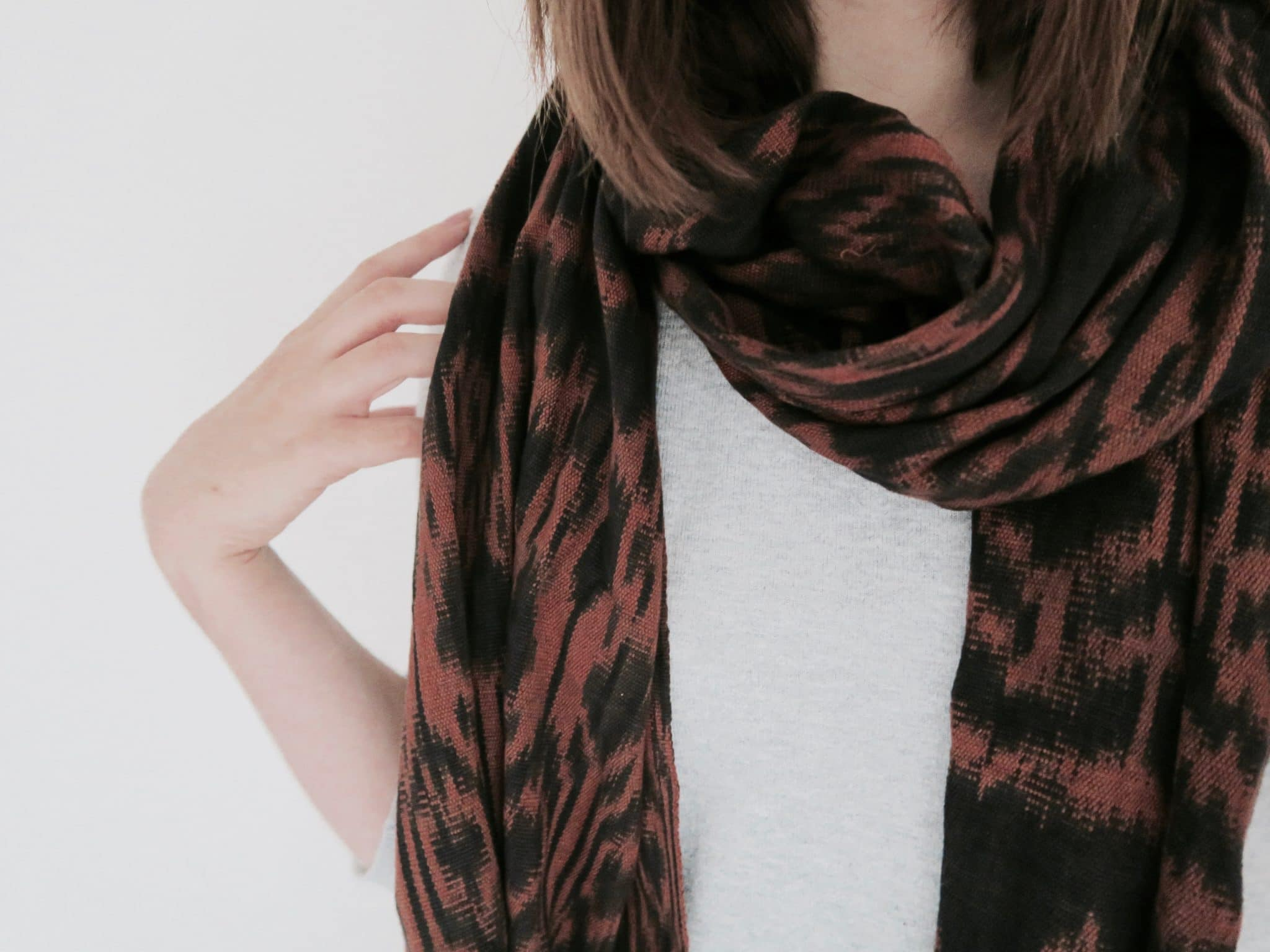 Autumn printed scarf