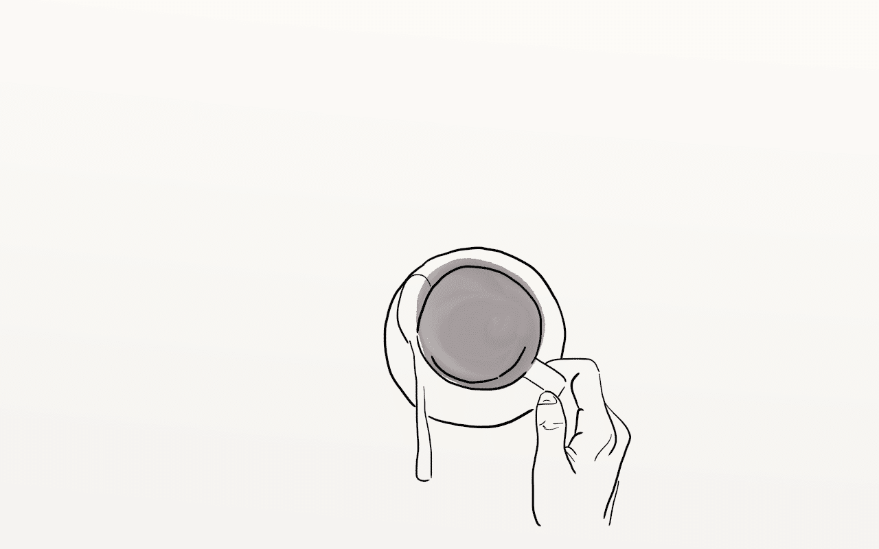 Coffee - Line Drawing