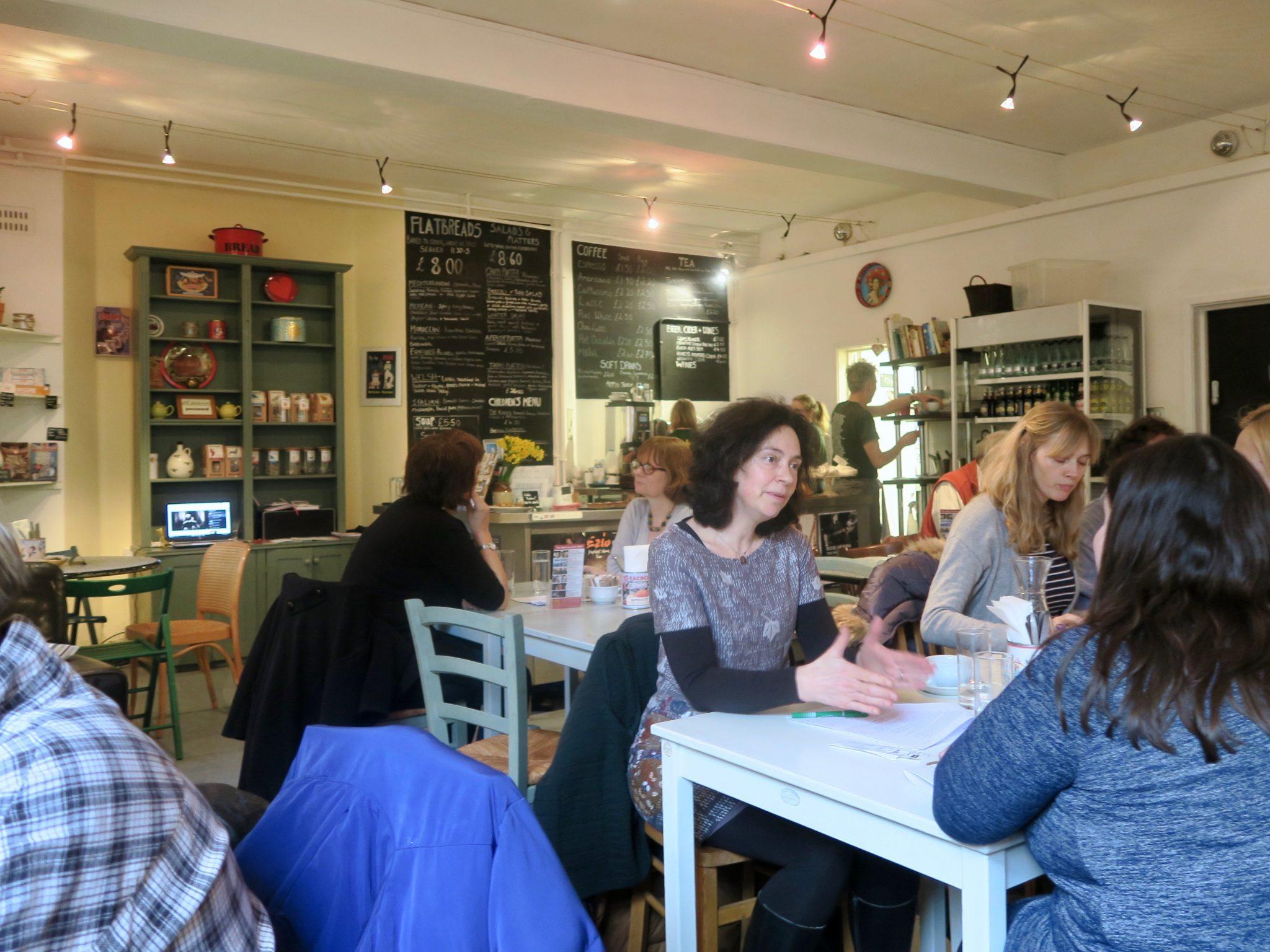 Interior of Chapel Arts Café