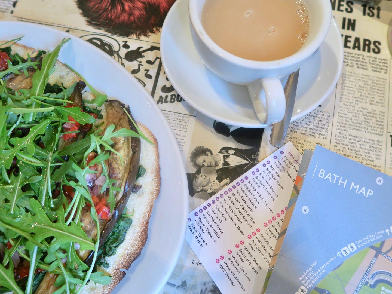 Mediterranean Flatbread at Chapel Arts Café