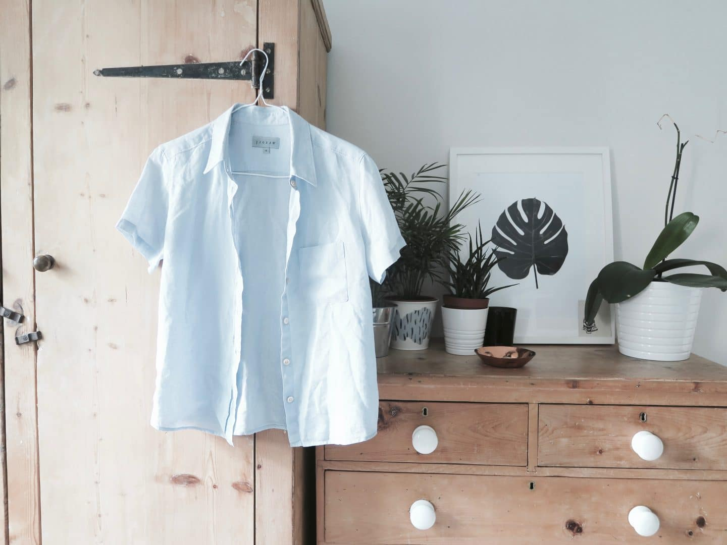 Second hand blue shirt | Curiously Conscious