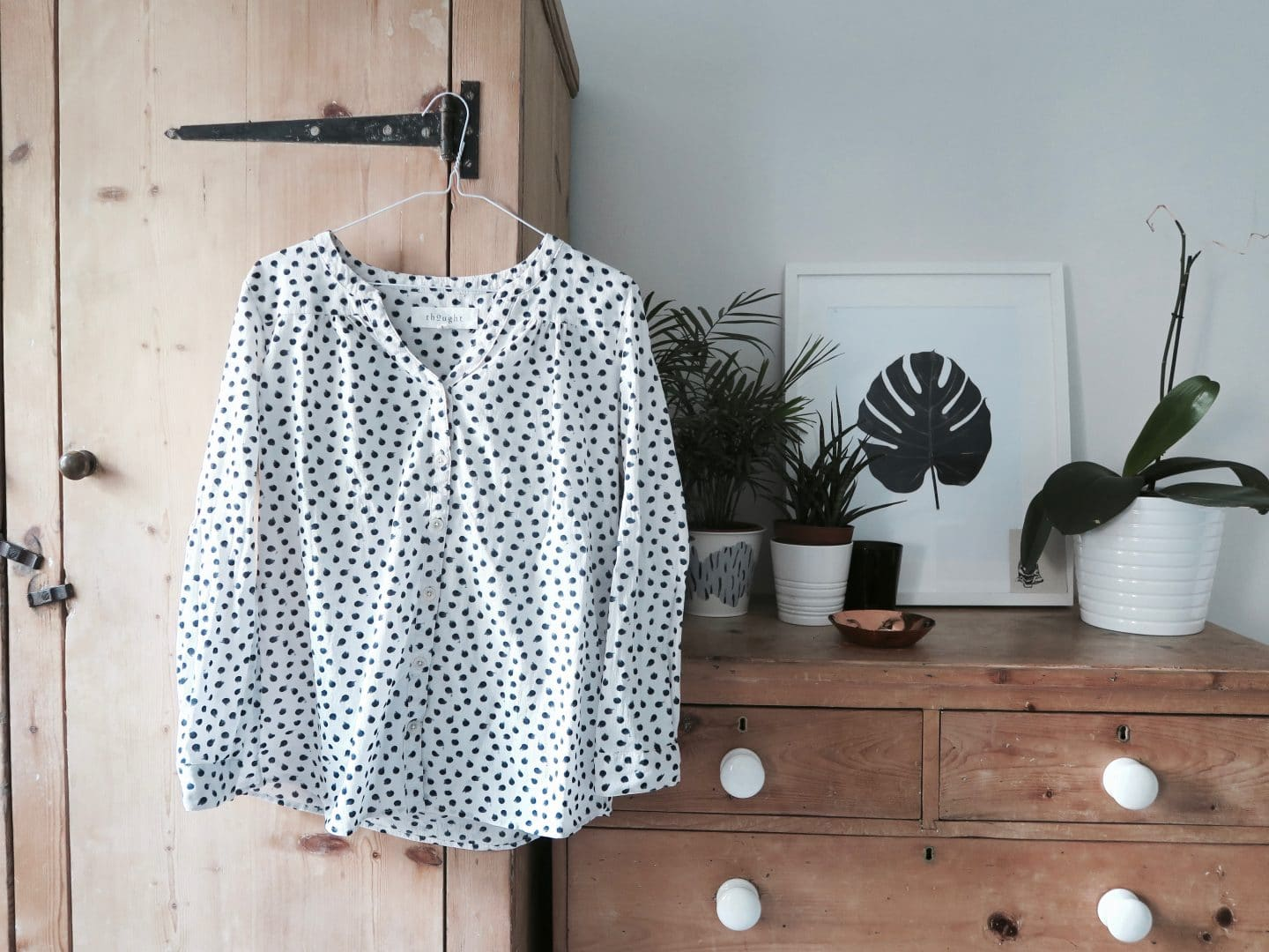 Thought clothing ethical blouse | Curiously Conscious
