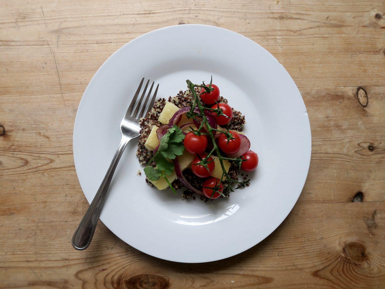 Vegan Halloumi Salad Recipe | Curiously Conscious