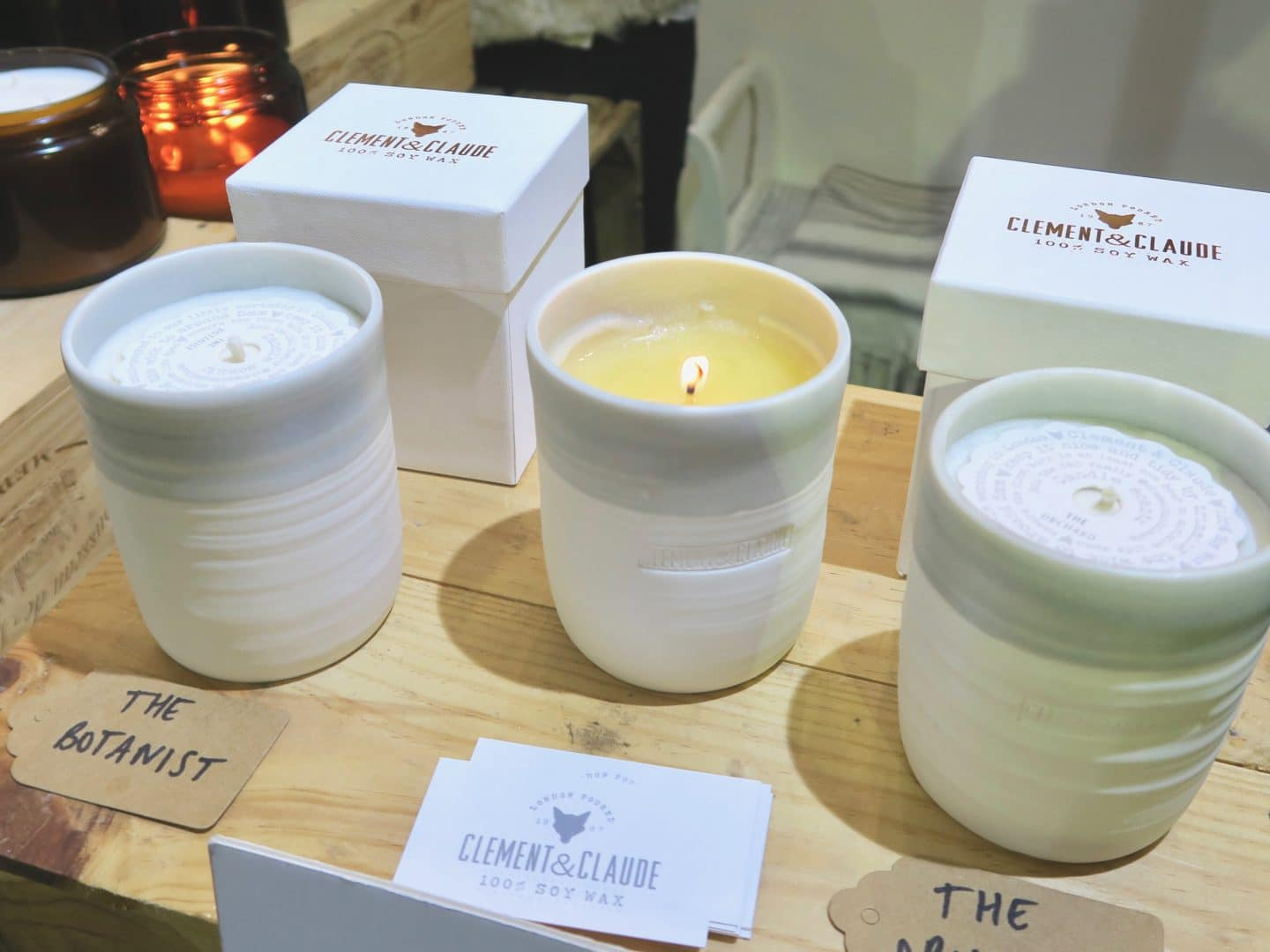 Clement and Claude soy candles   Curiously Conscious