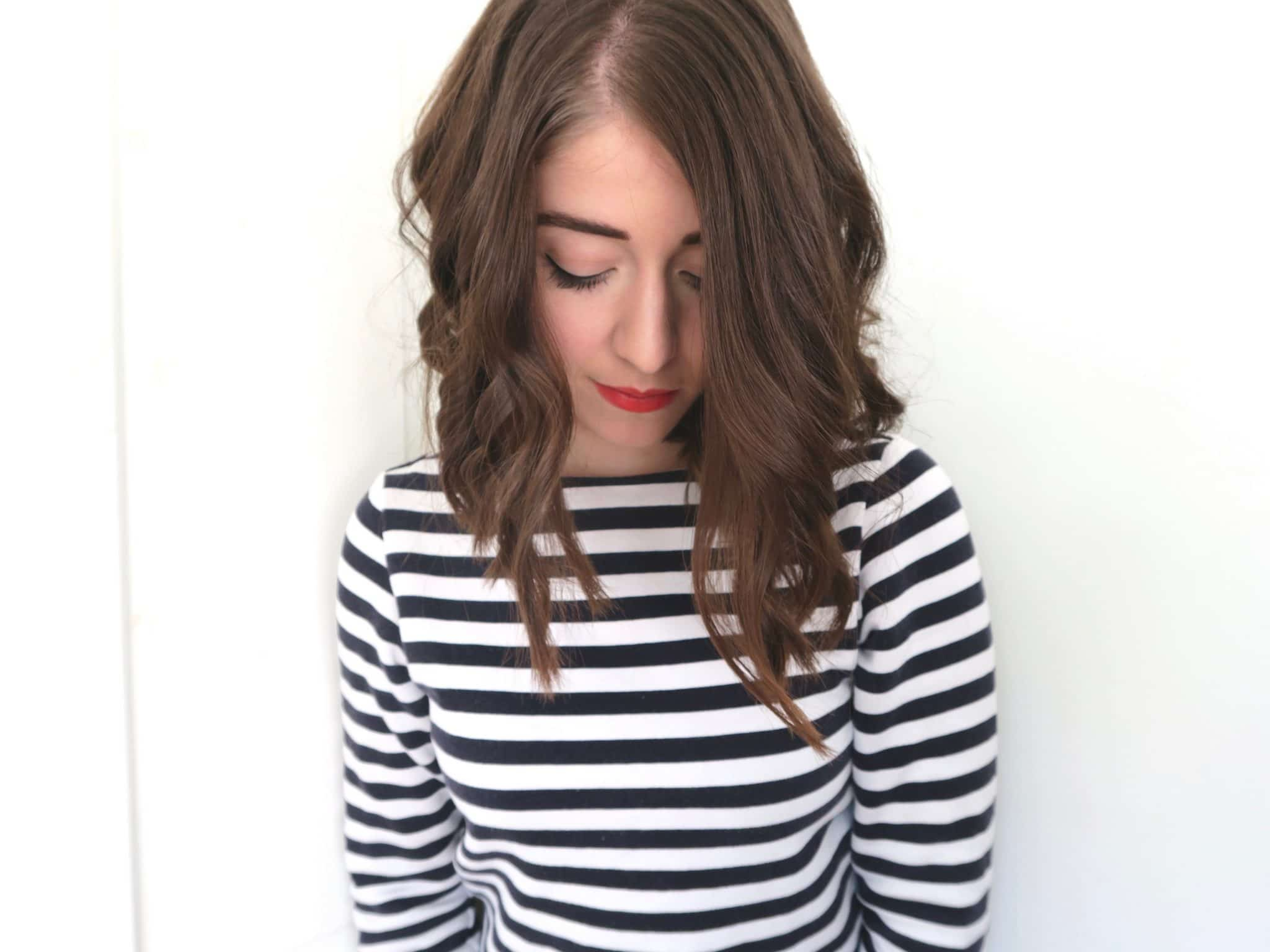 French Stripes and Red Lips Makeup | Curiously Conscious