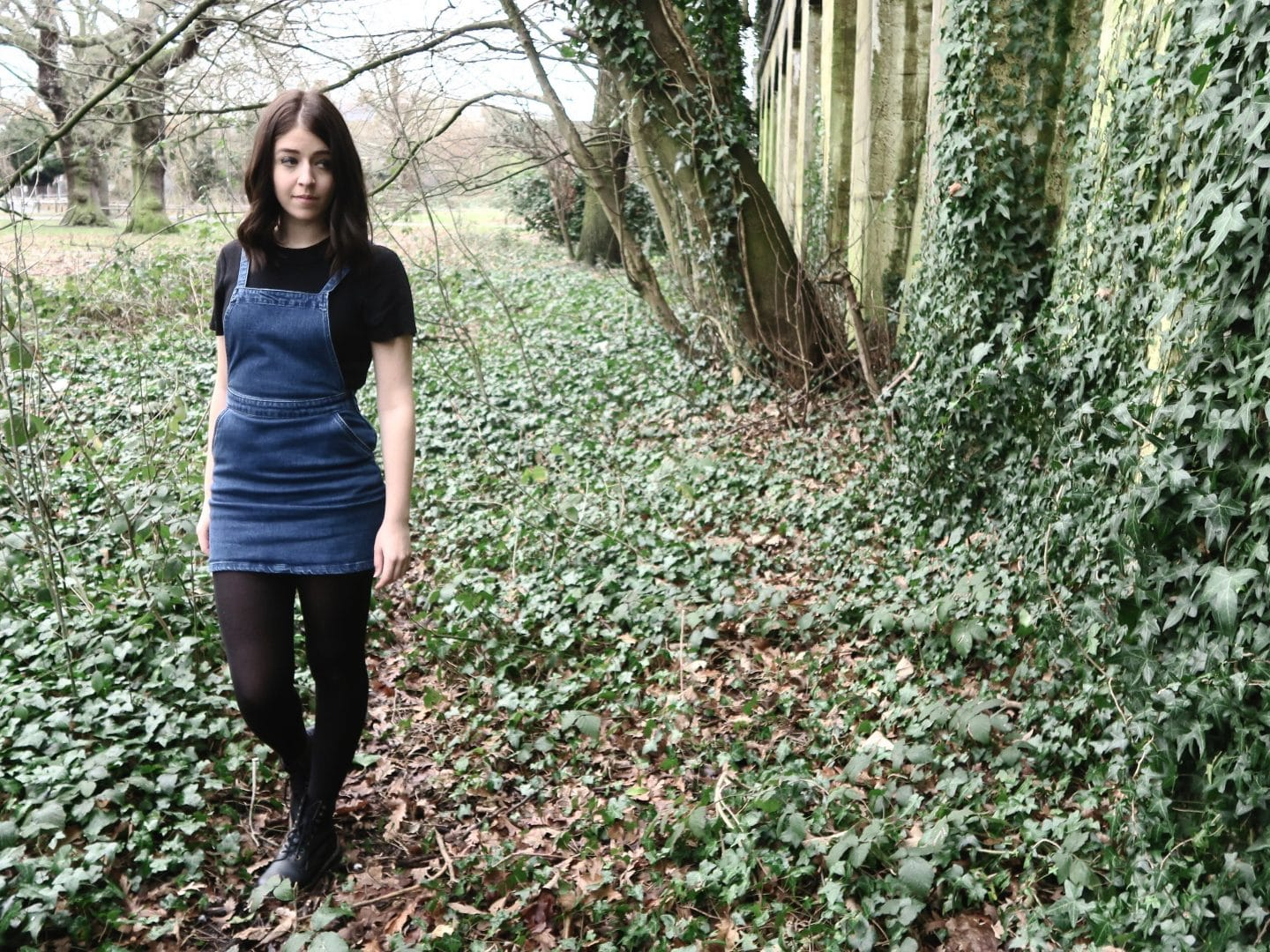 How to Style a Dungaree Dress   Curiously Conscious