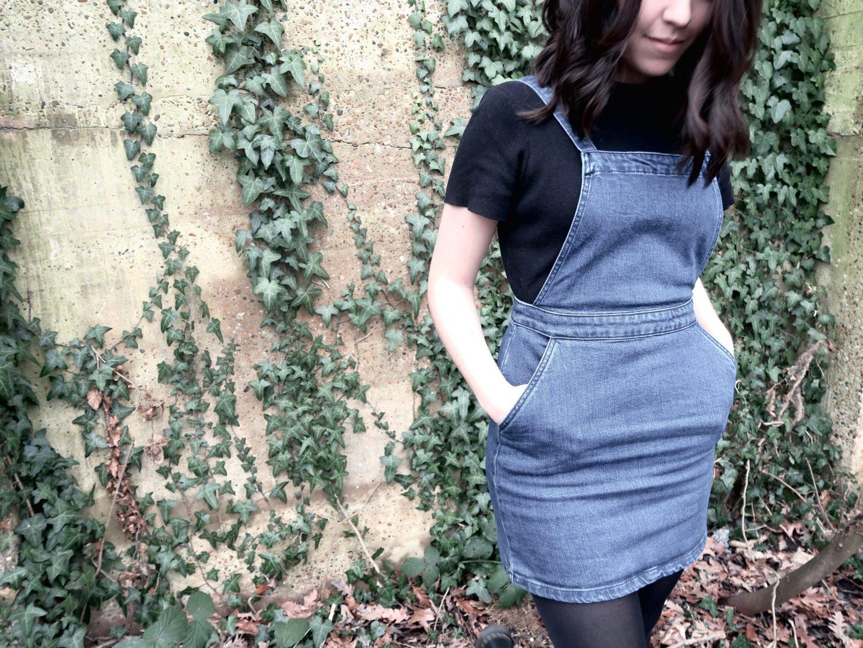Thrift Shop Dungaree Dress   Curiously Conscious