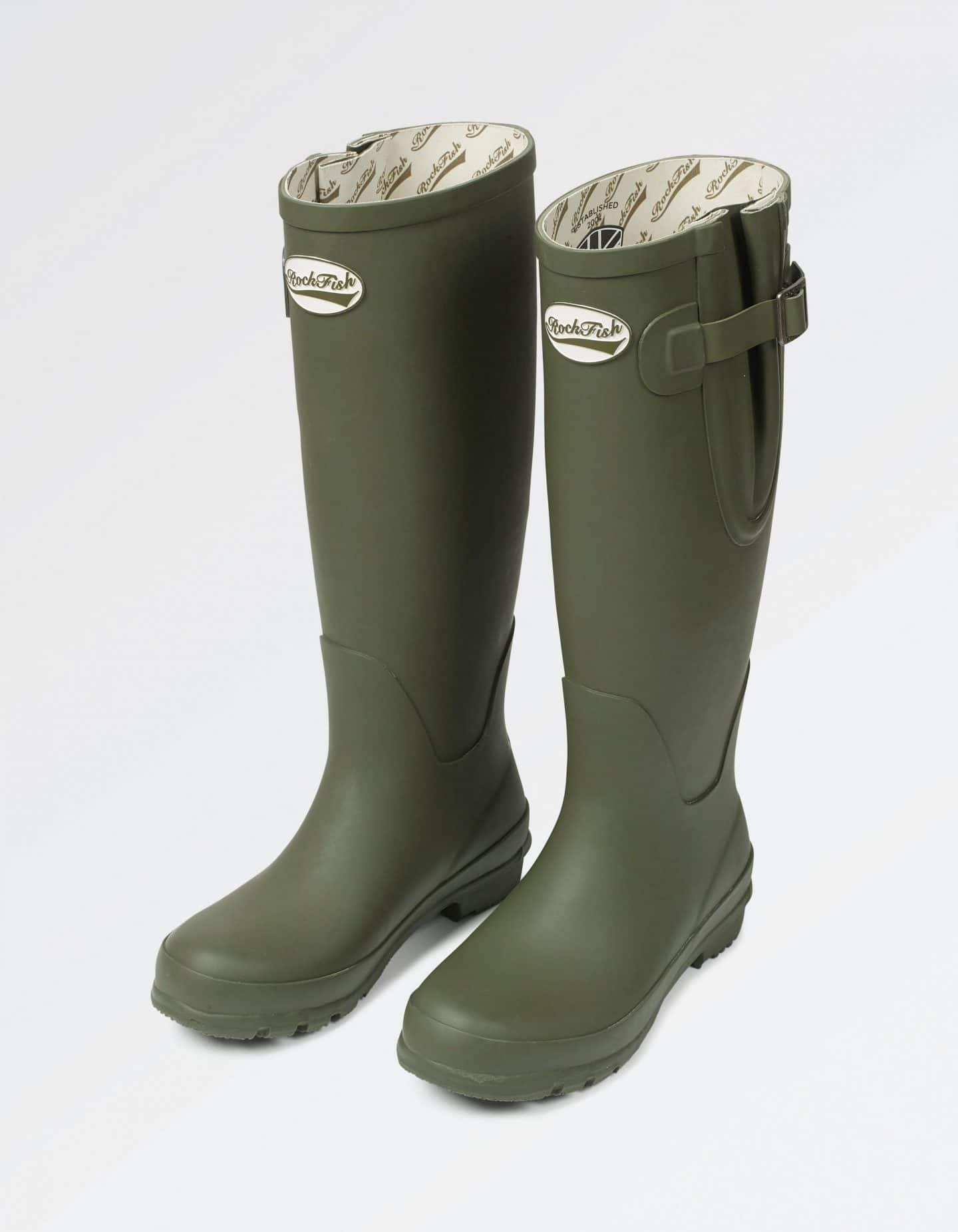 Fat Face Rockfish Wellies in Olive
