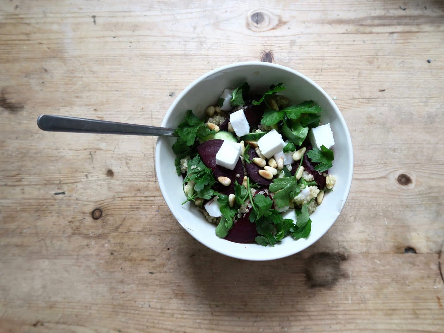 Vegan Feta Winter Salad | Curiously Conscious