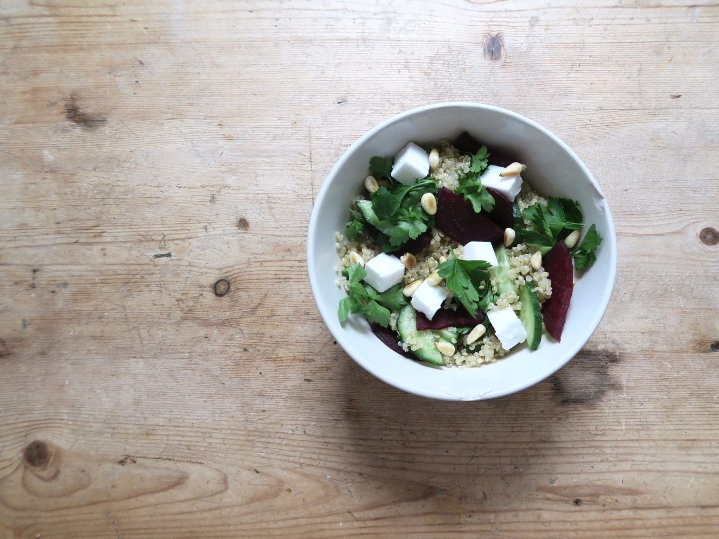 Vegan Feta Winter Salad Recipe | Curiously Conscious
