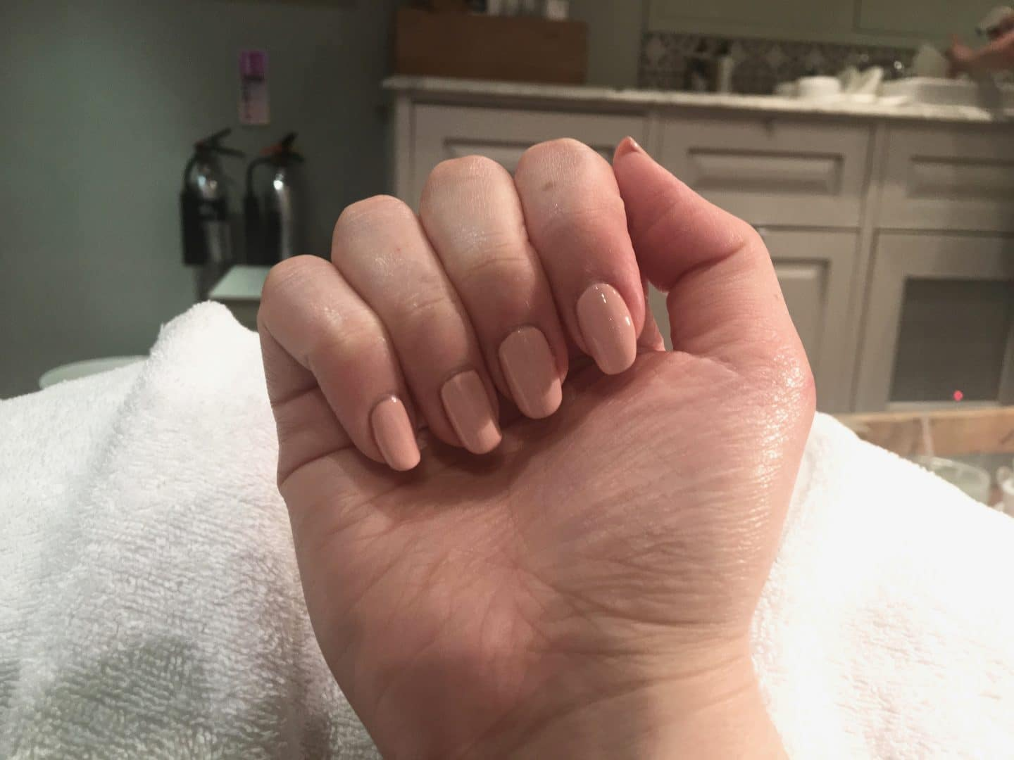 Cowshed Manicure in Peach & Love | Curiously Conscious