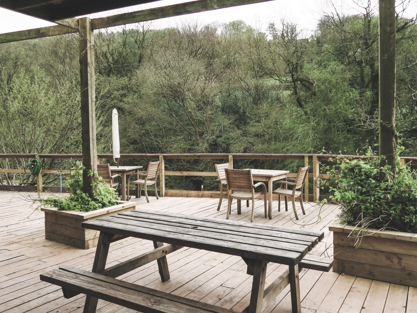 Dining Platform at Hidden Valley Yurts | Curiously Conscious
