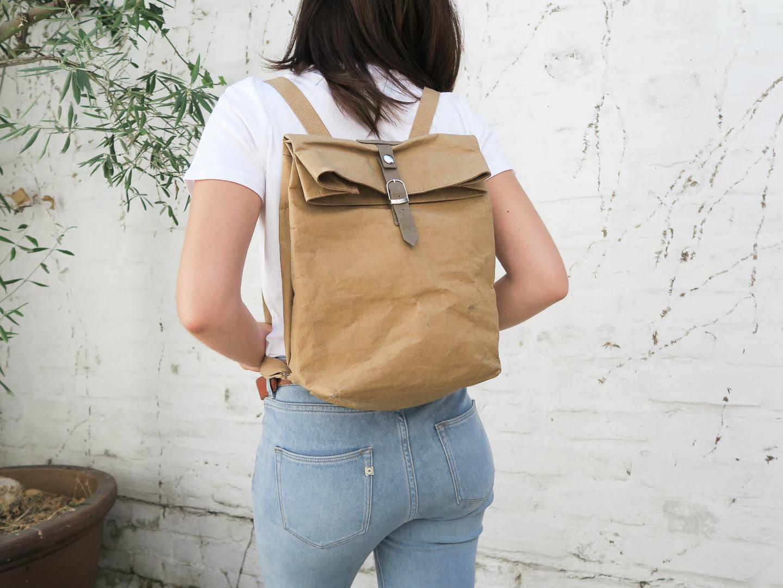 Paper Bag Rucksack | Curiously Conscious