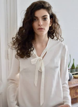 White Pussybow Shirt