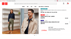 Uniqlo website