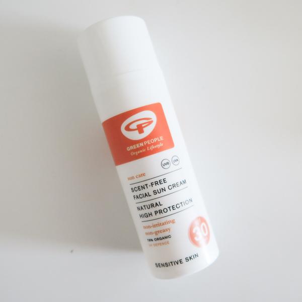 Green People Facial Sunscreen SPF 30 laid flat