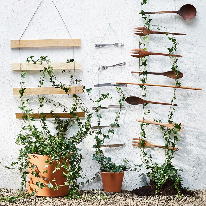 Trellis made from cutlery