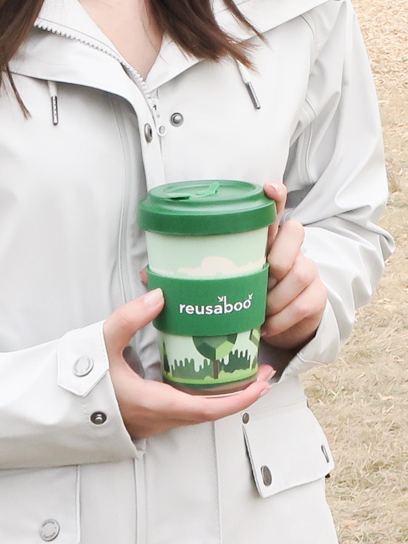 Reusaboo bamboo coffee cup