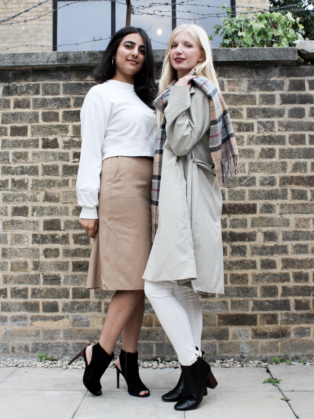 Meghan and Ella modelling clothes swap items