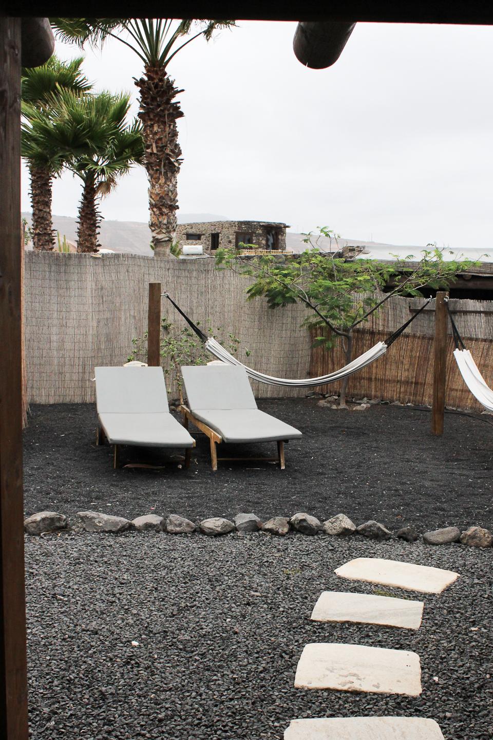 Eco Cabin Garden at Finca de Arrieta