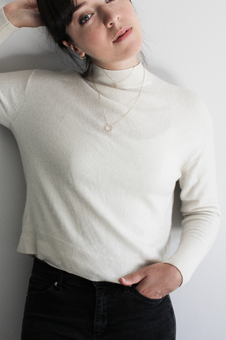 Necklaces with mock neck jumper
