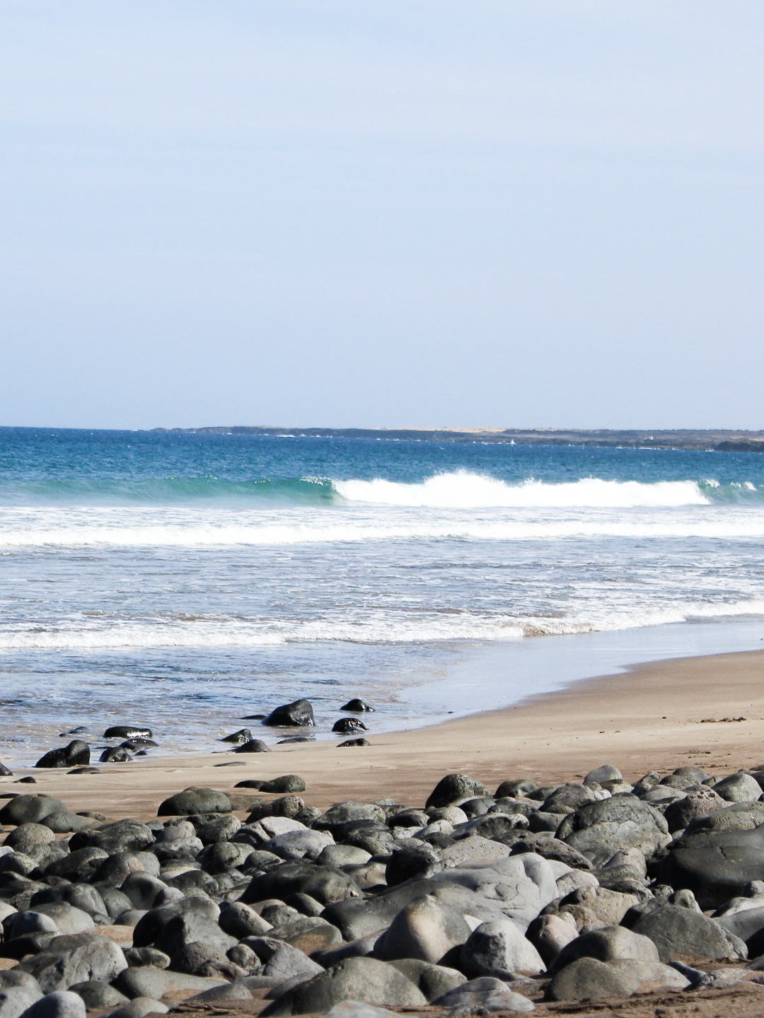 Sandy beach at Arrieta, Lanzarote