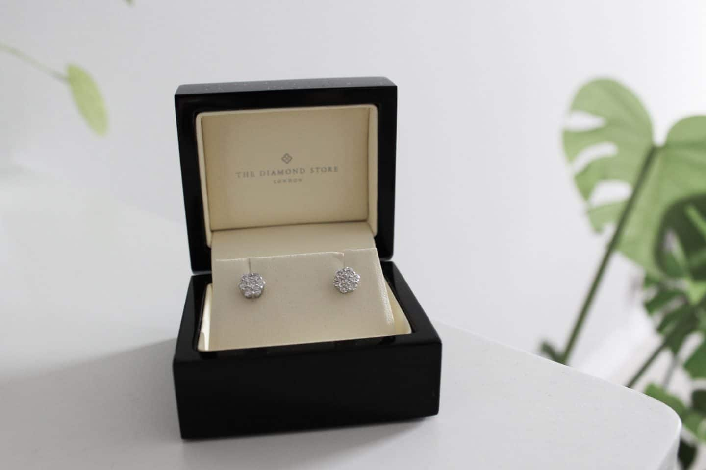Lab-grown diamond earrings by The Diamond Store