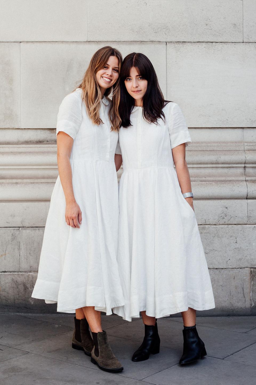 Besma and Jil wear Son de Flor dresses