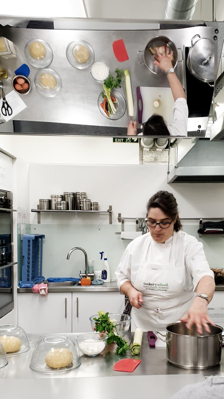 Carolina teaching Pasta Workshop at Cookery School