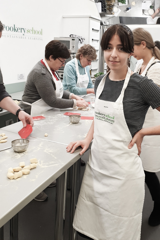 Besma with her potato gnocchi