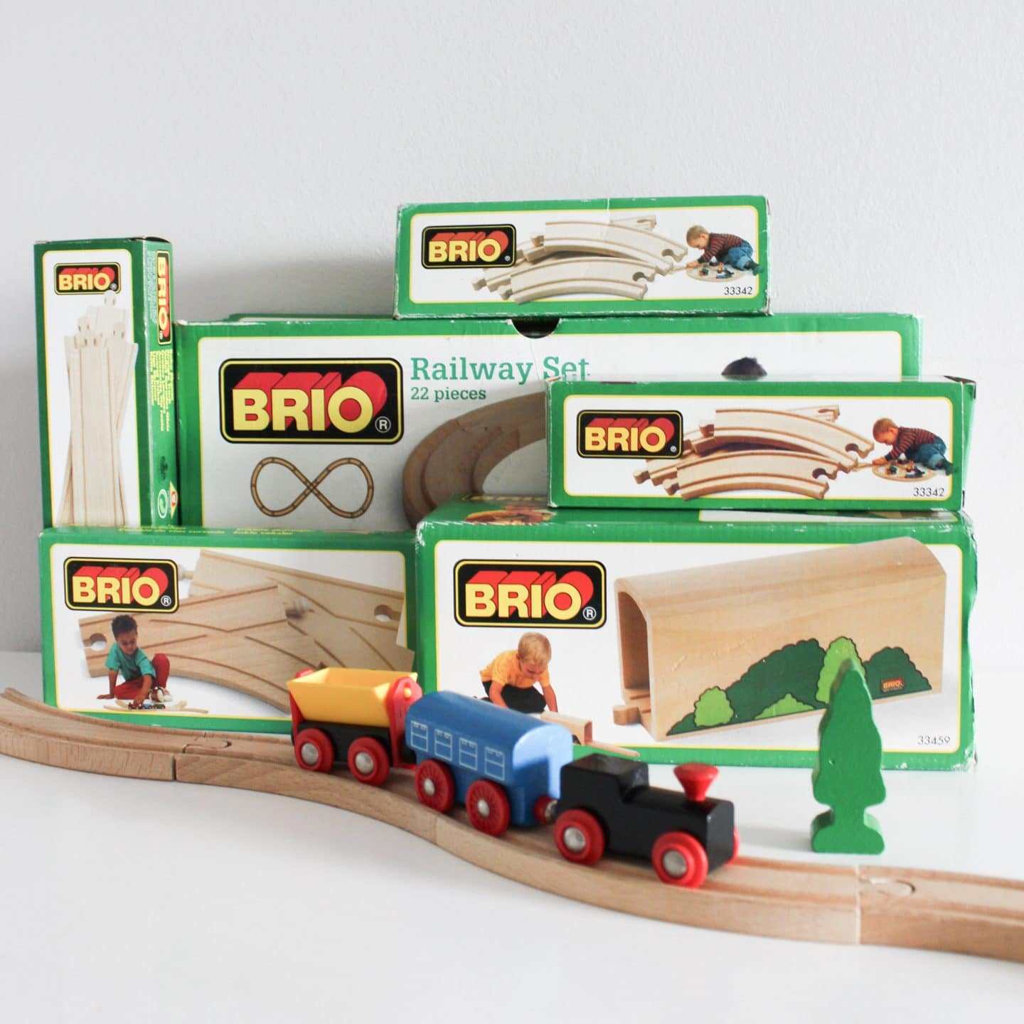 Brio Wooden Train Track with Trains