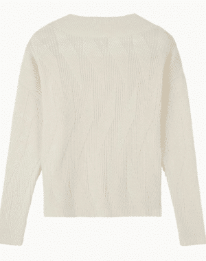 Cream Brushed Wool Jumper