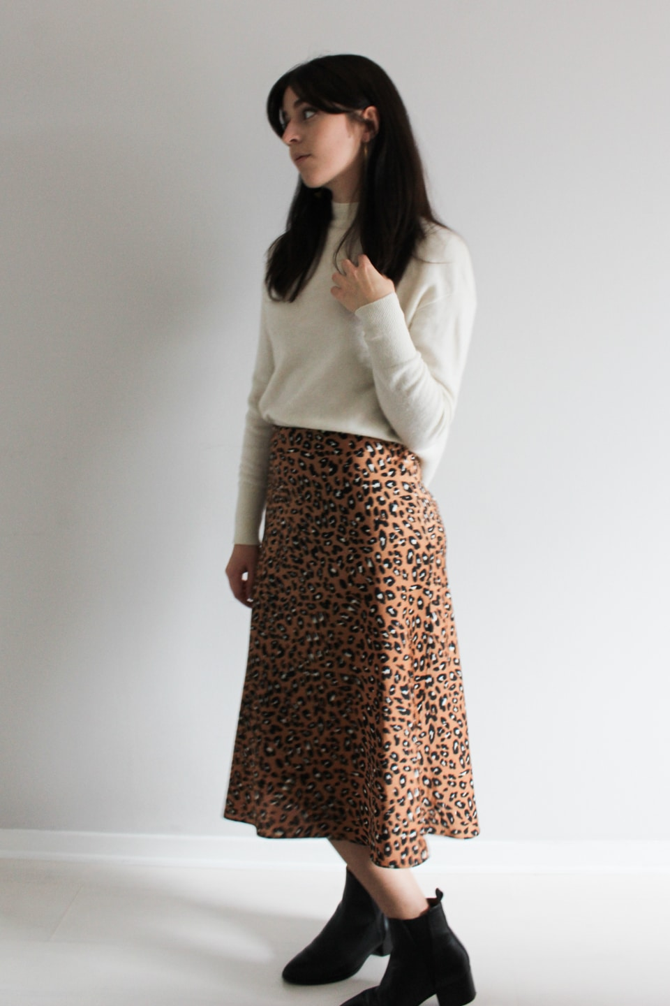 Jumper and Midi Skirt Outfit