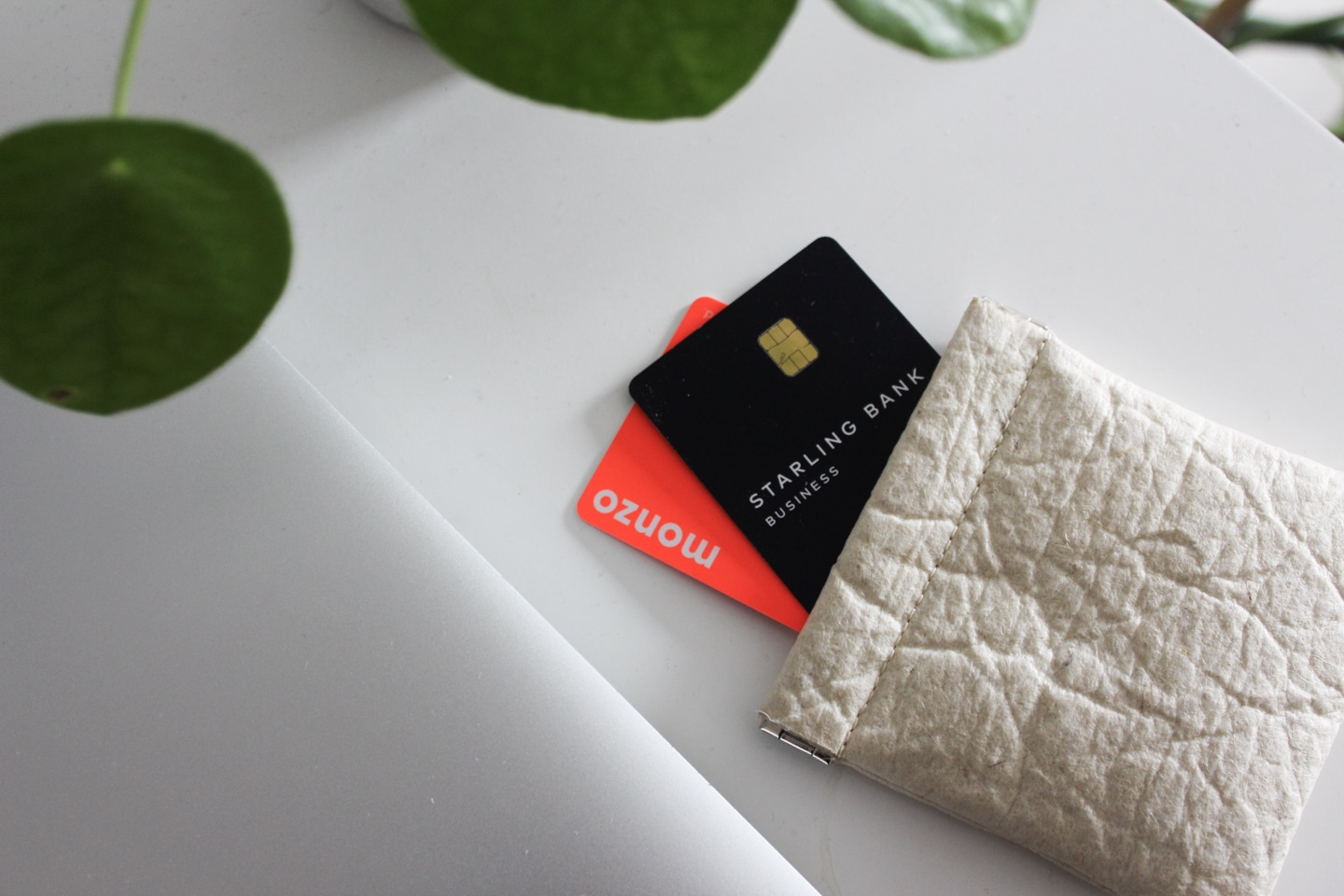 Starling Bank and Monzo cards in a purse