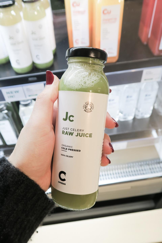 Organic Juice in Glass Bottle