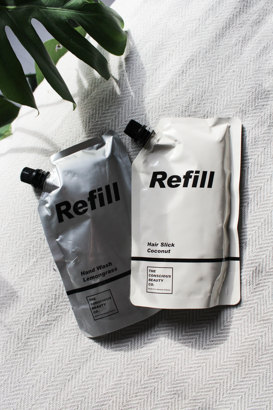 Refill pouches from Conscious Beauty Co.