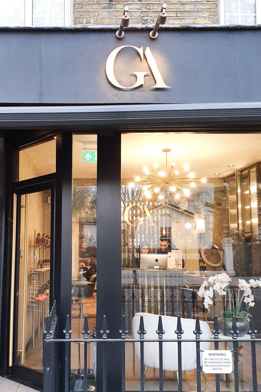 Exterior of GA Salon Notting Hill