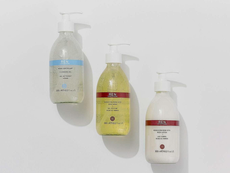 REN Skincare glass bottles