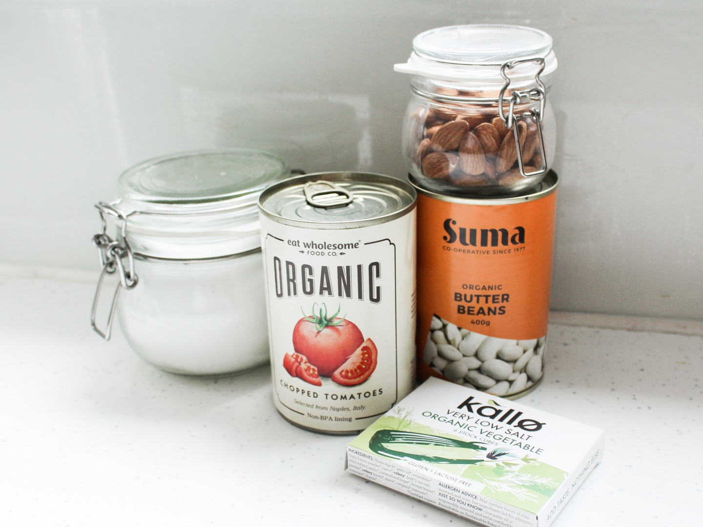 A selection of pantry ingredients