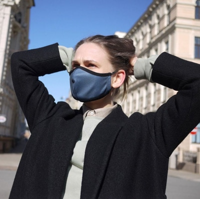 Woman wears Maask mask