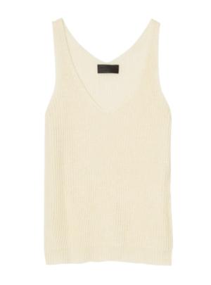 Linen Shoulderless Sweater
