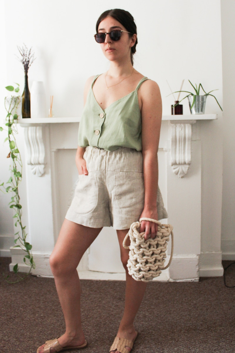 Besma re-styles green strappy top