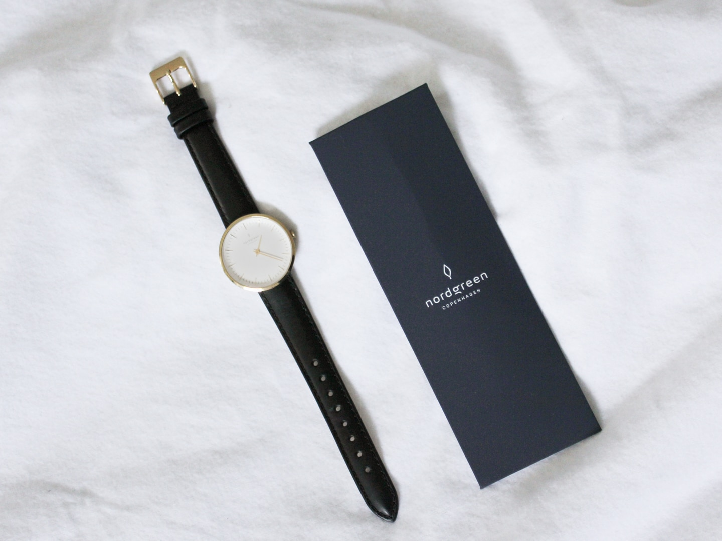 Nordgreen watch and cardboard strap case