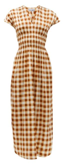 Ganni Gingham Dress