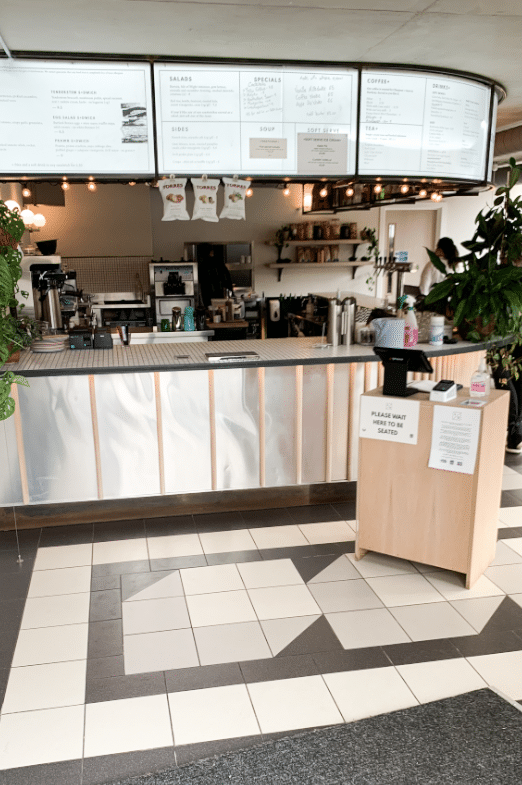 Interior of Sons + Daughters sandwich bar