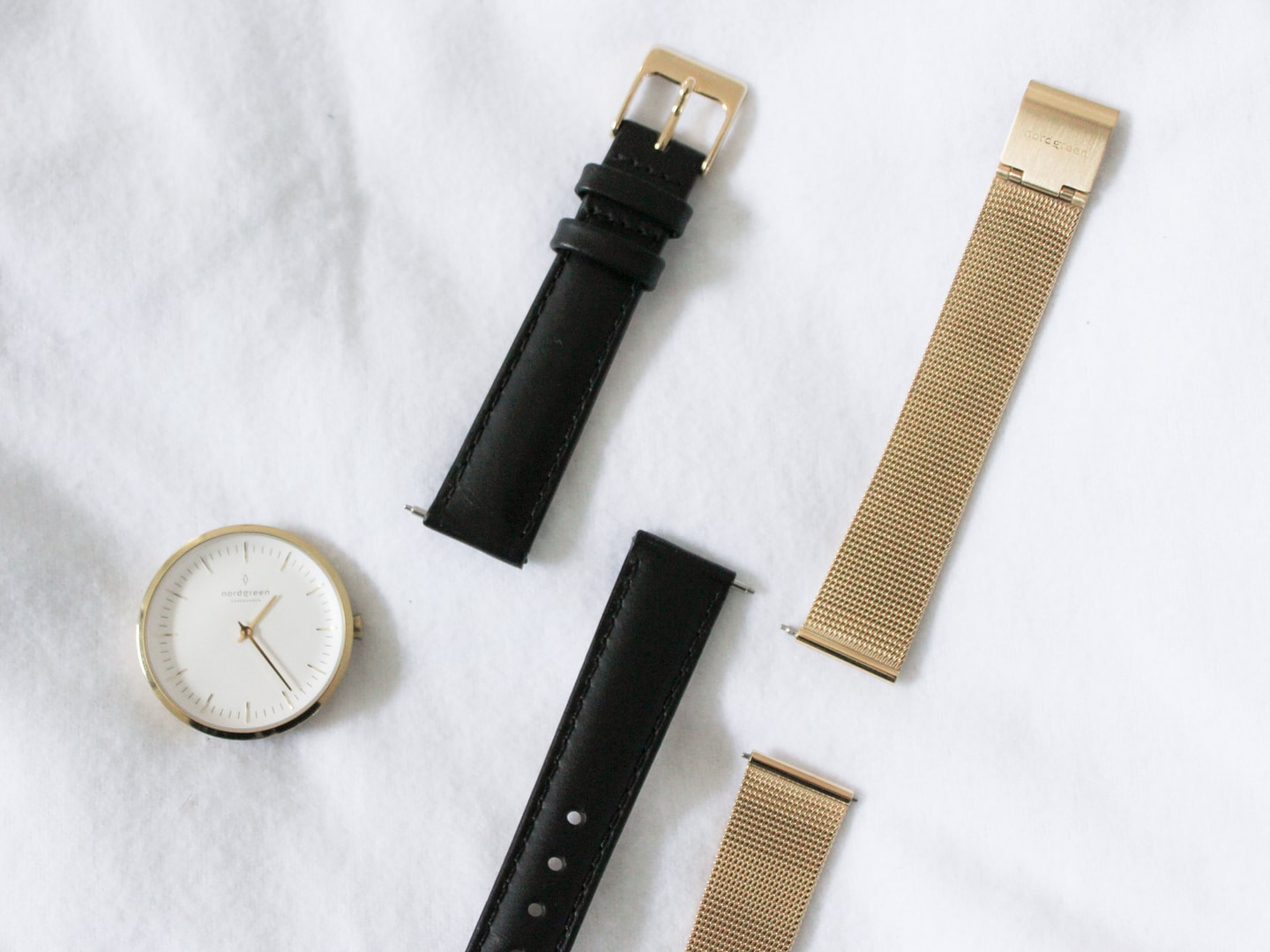 Nordgreen watch with interchangeable straps