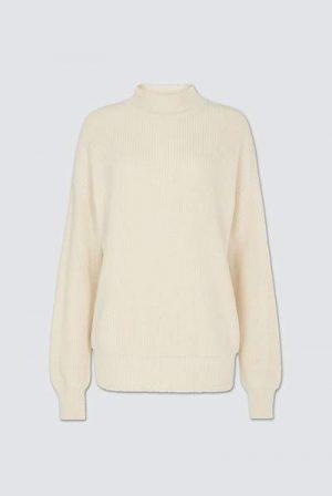 Cotton Jumper in Cream