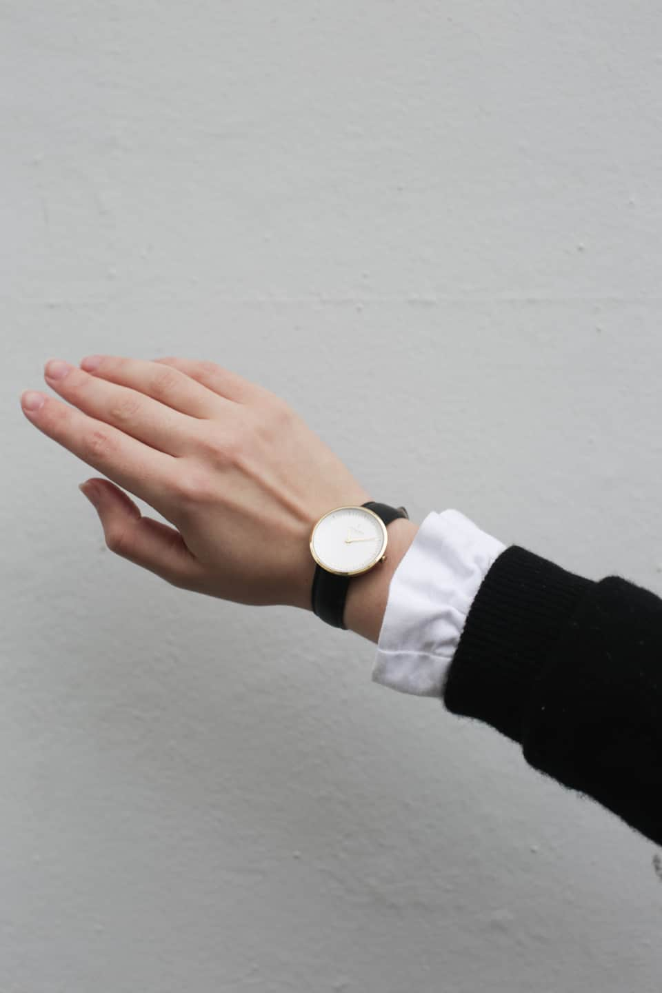 Hand with Nordgreen watch on wrist