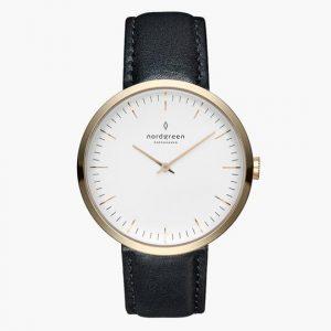 Nordgreen Watch in Black Vegan Leather