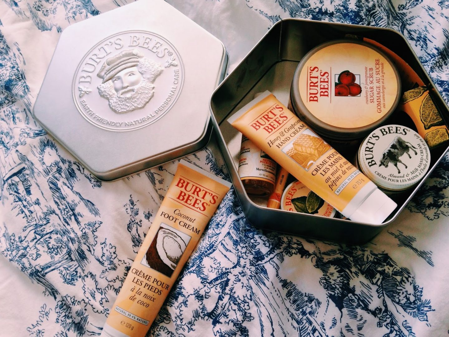 Gift box of Burt's Bees products